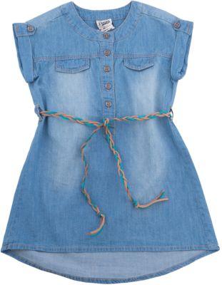 Платье джинсовое для девочки SELA - синий деним