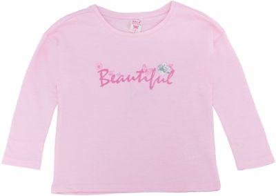 Футболка с длинным рукавом для девочки SELA - розовый