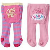 Колготки, розово-фиолетовые с собачкой, BABY born