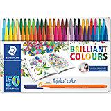Набор фломастеров Triplus Color, 50 цветов, 1 мм, Johanna Basford, Staedtler