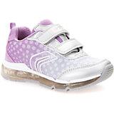 Кроссовки со светодиодами для девочки Geox