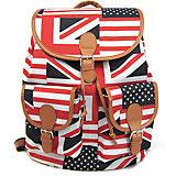 "Рюкзак ""British Flag"" с 2-мя карманами, цвет мульти"