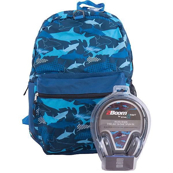 MOJO PAX Рюкзак Sharks с наушниками
