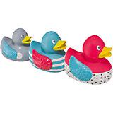 """Набор ПВХ-игрушек для ванной """"FUNNY DUCKS"""", Happy Baby"""