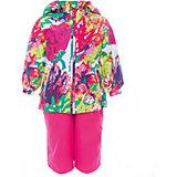 Комплект: куртка и полукомбинезон для девочки YONNE Huppa