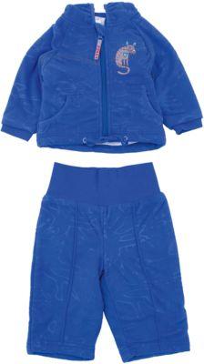 Комплект флисовый JACOBI для мальчика Huppa - синий