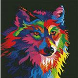 """Алмазная мозаика """"Радужный волк"""""""