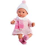 Кукла 5 функций, Elegance, в вязаной шапочке с шарфиком, розовый, 28 см, Arias