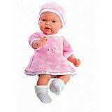 Кукла в розовом платье и шапочке, с соской, плачет, 28см, Arias