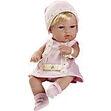 Пупс-блондинка в розовом платьице со стразами Swarowski, 33см, Arias