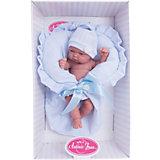 Кукла-младенец Леон в голубом, 26 см, Munecas Antonio Juan
