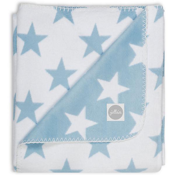 Байковый плед 100х150 см, Jollein, Light blue Star