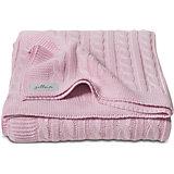 Вязаный плед (косичка) 75х100 см, Jollein, Light pink