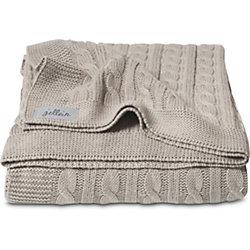 Вязаный плед (косичка) 100х150 см, Jollein, Sand