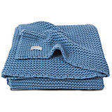 Вязаный плед 100х150 см, Jollein, Blue