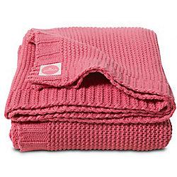 Вязаный плед Chunky Knit 100х150 см, Jollein, Rasberry