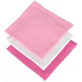 Салфетки для лица, 3 шт, Jollein, Fuchsia/pink/white