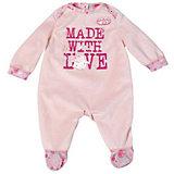 Комбинезончик, розовый с надписью, Baby Annabell
