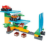 """Конструктор Mega Bloks """"Вспыш и чудо-машинки"""" - Гонки в джунглях, 50 деталей"""