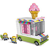 """Конструктор Mega Bloks """"Миньоны"""" - Фургончик с мороженым, 286 деталей"""