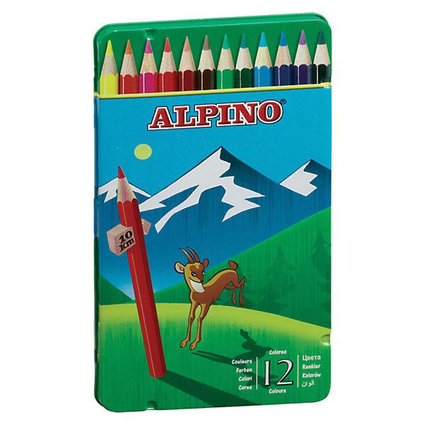 Цветные шестигранные карандаши, 12 цв.