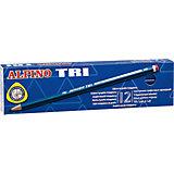 Карандаши графитные трехгранные TRI, HB, 12 шт.