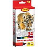 """Цветные карандаши """"Хищники"""" 24 цвета"""