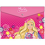 Конверт на кнопке А4, Barbie