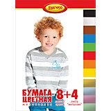 """Цветная бумага """"Дети"""", 12 листов"""