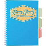 "Синяя тетрадь А5 ""Neon book"" 120 листов"