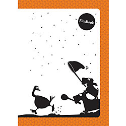 """Оранжевая тетрадь А5 """"Flex book"""" 80 листов"""