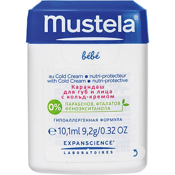 Карандаш  для губ и щечек с кольд- кремом 11мл, Mustela