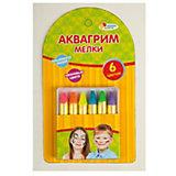 """Аквагрим мелки """"Multiart"""" 6 цветов (неоновые цвета)"""