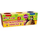 """Пальчиковые краски """"Multiart"""" """"Маша и медведь"""" 3 штуки по 50мл."""