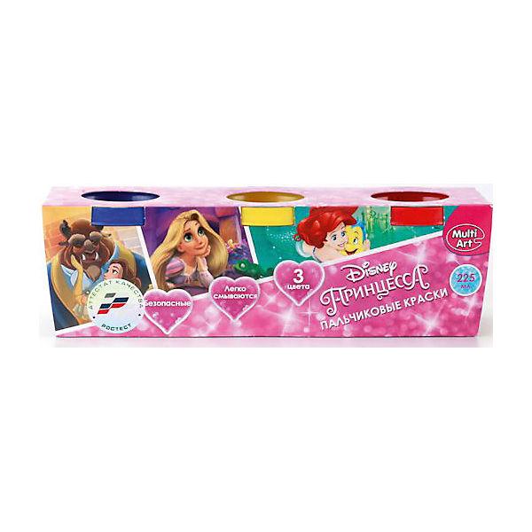 """Пальчиковые краски """"Multiart"""" """"Disney Принцессы"""" 3штуки по 50мл."""