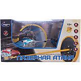 Вертолет на р/у с инфракрасной пушкой и мишенью, синий, Властелин небес