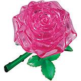 "Кристаллический пазл 3D ""Розовая роза"", Crystal Puzzle"