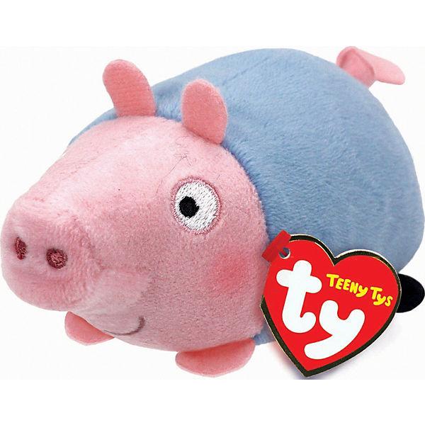 "Мягкая игрушка ""Свинка Джордж, 11х7х5 см"", Teeny Tys, Ty"