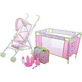 Игровой набор Deluxe Кроватка с коляской, Mary Poppins