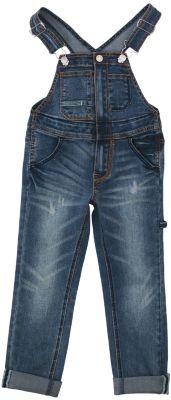 Комбинезон джинсовый для девочки PlayToday - синий