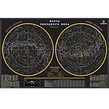 """Карта """"Звездное небо"""" 90*57 см (в тубусе)"""