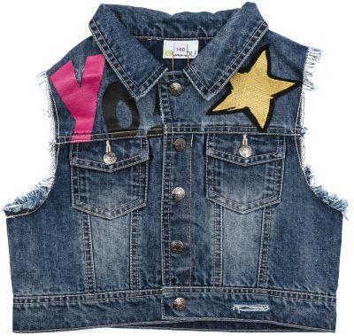 Жилет джинсовый для девочки S'cool - голубой