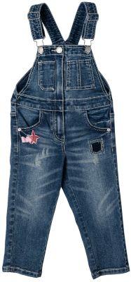 Комбинезон джинсовый для девочки PlayToday - темно-синий