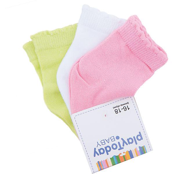 Носки, 3 пары для девочки PlayToday