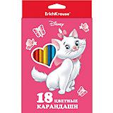"""Карандаши """"Кошка Мари"""", 18 цветов"""
