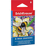 Восковые мелки Erich Krause, 8 цветов