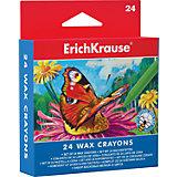 Восковые мелки Erich Krause, 24 цвета