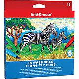 Фломастеры ArtBerry easy washable, 18 цветов