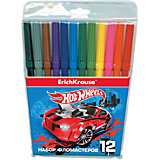 "Фломастеры ""Hot Wheels Super Car"", 12 цветов"