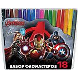 """Фломастеры """"Мстители-2"""", 18 цветов"""